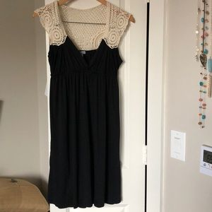 Black and lace dress
